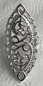 One Off Joblot of 10 Ladies Silver Flower & Heart Shield Rings