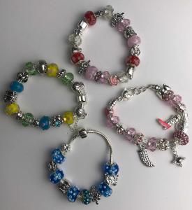 Wholesale Joblot of 10 Ladies Charm Bracelets In Five Designs