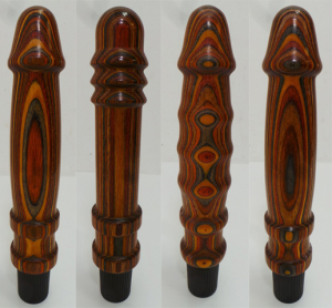 One Off Joblot of 23 Treeze by Don Wands Wood Vibrator Dildos Assorted Designs