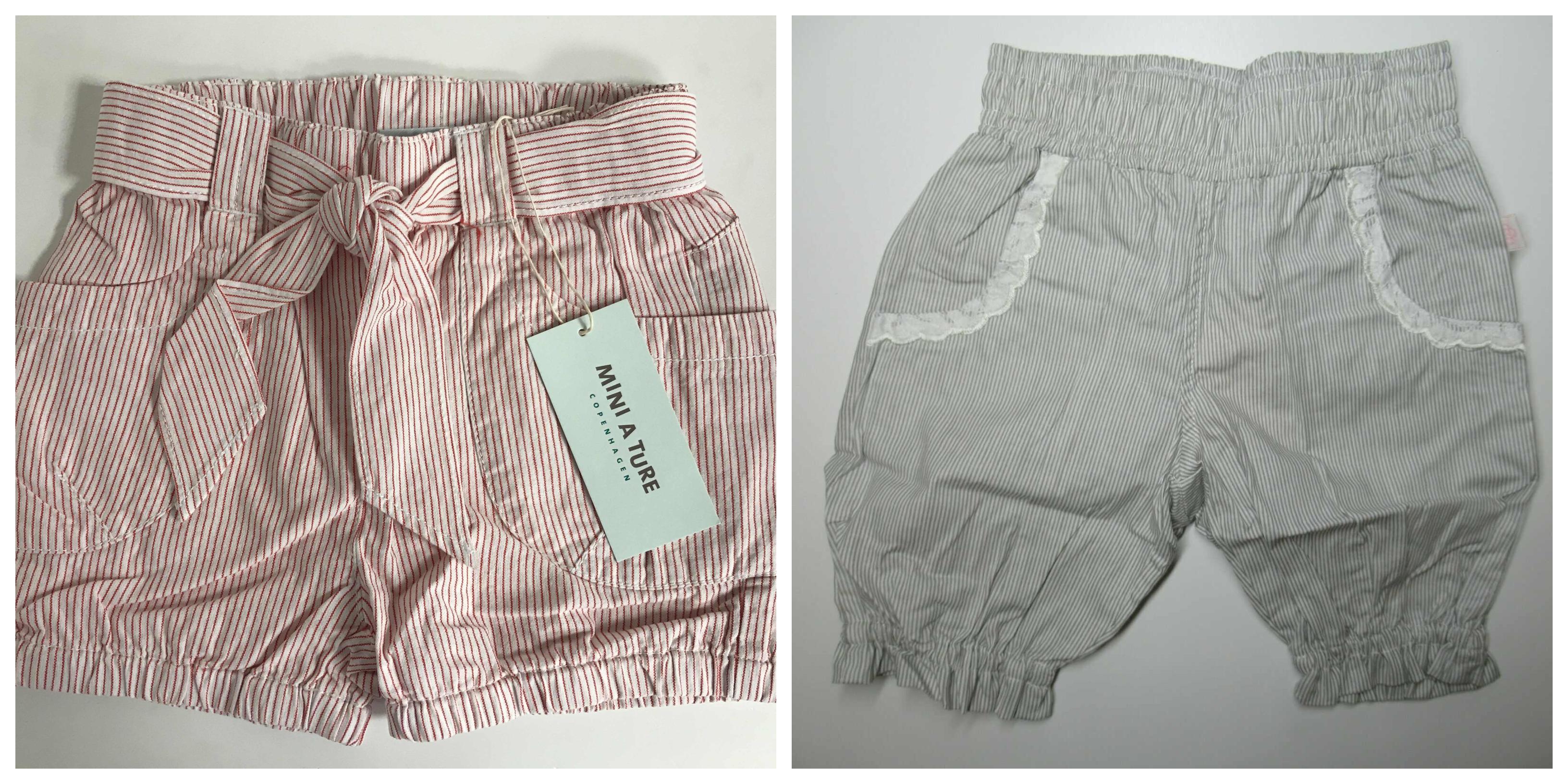 One Off Joblot Of 9 Girls Or Boys Designer Shorts From Mini A Ture & Aya Naya Bottoms