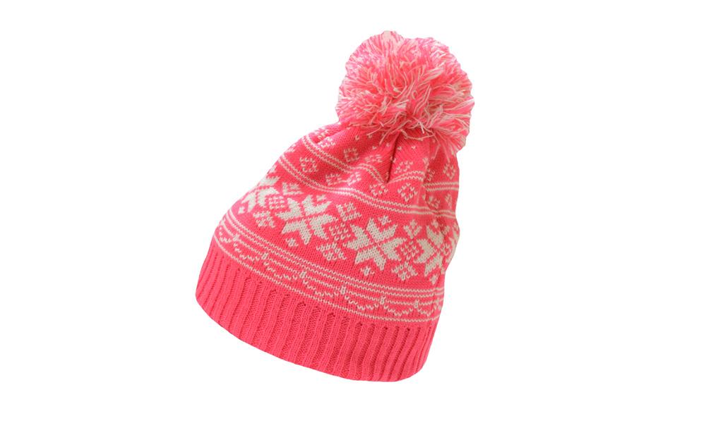 10 X Snow flake Pink/White Hat