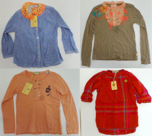 One Off Joblot of 6 Scotch R'Belle Girls Long Sleeve Tops 6 Styles 6-9 Years