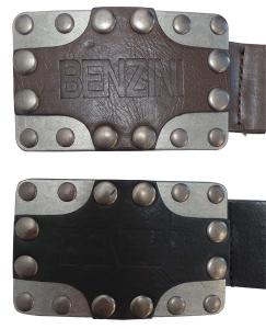 Wholesale Joblot of 30 Mens Benzini Shield Buckle Belts Black & Brown