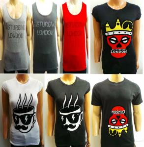 Joblot of 50 Disturbing London Graphic T-Shirts & Vest Tops Womens & Mens