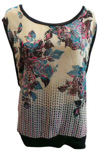 One Off Joblot of 16 Amy Gee Ladies Sleeveless Floral Tops Sizes XS-XL