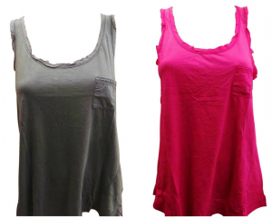 One Off Joblot of 8 Esprit Vest Tops Ladies Charcoal & Pink 100% Cotton