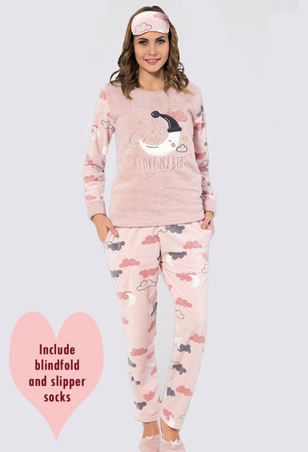 Joblot of 12x High Quality Ladies Pyjama Sets / Fleece Supersoft Fabric