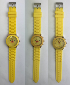 Wholesale Joblot of 9 Unisex Duck Watches in Yellow