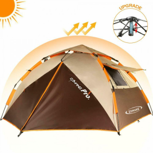 Joblot of 24 Zomake Automatic 3 Person Tents - 2 Designs Included Dome & Beach
