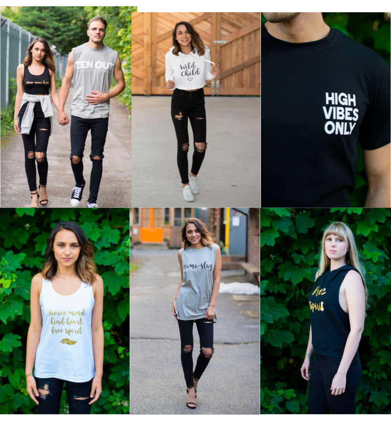 100% Cotton T-shirts for Men and Women for Yoga, Gym, Leisurewear - Great Christmas Gifts