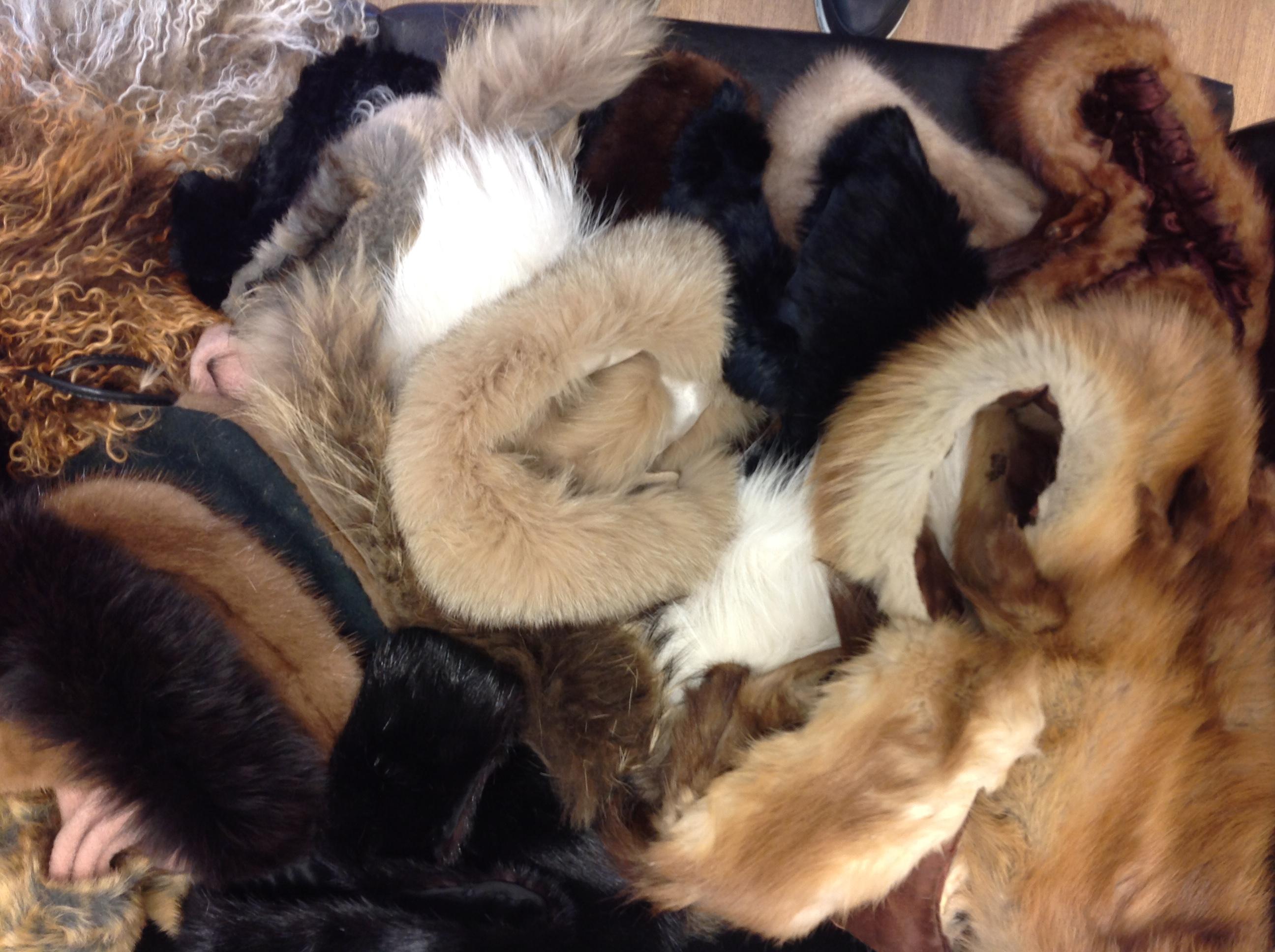 Job Lot of 25 Real Fur Timmings and offcuts: Sku; Bag 5