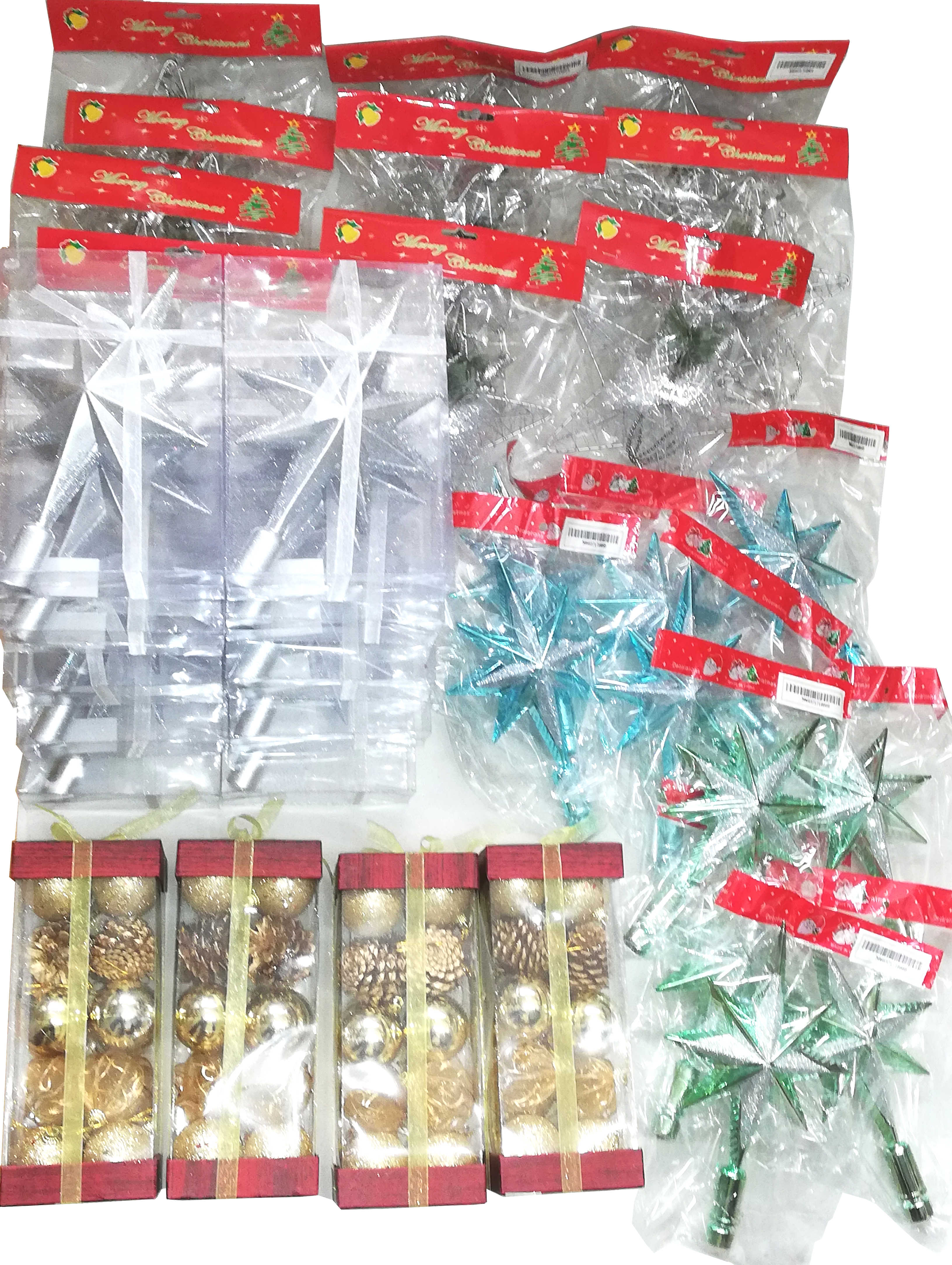 Christmas Decorations - Tree top stars, Baubles & hanging decorations
