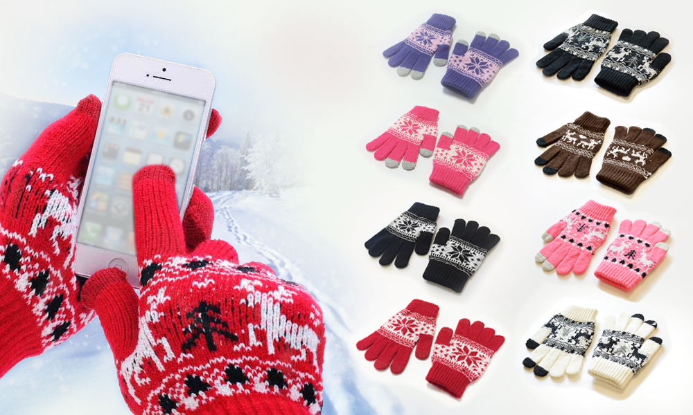 120 assorted snowflake Touch Screen Gloves