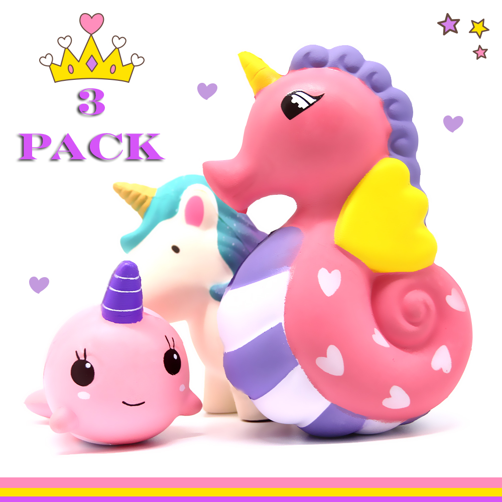 Unicorns Squishies Pack x 3 Slow Rising Squishies