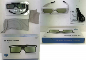 One Off Joblot of 11 3D Active Glasses in 2 Designs for DLP Projector