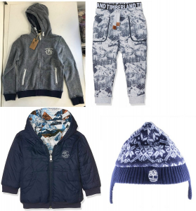 One Off Joblot of 9 Timberland Boys Winter Clothing - Coats, Jackets, Trousers