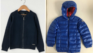 One Off Joblot of 6 Guess Boys Knit Jackets & Down Puffer Coat
