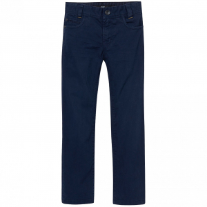 One Off Joblot of 4 Hugo Boss Boys Navy Chino Trousers Sizes 6-14