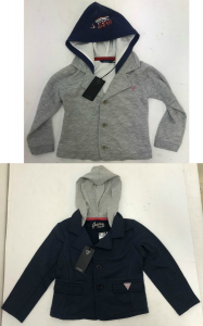 One Off Joblot of 10 Guess Kids Blazer Hoodie Navy & Grey Mixed Sizes