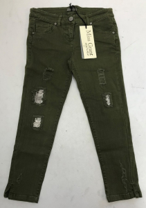One Off Joblot of 6 Miss Grant Girls Distressed Sequin Jeans in Green