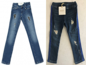 One Off Joblot of 4 Liu Jo Girls Jeans/Jeggings Distressed Style Sizes 2-12