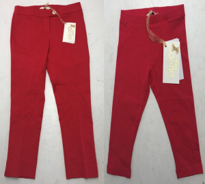 One Off Joblot of 6 Liu Jo Girls Red/Pink Trousers & Leggings Range of Sizes