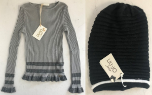 One Off Joblot of 4 Liu Jo Girls Ribbed Tunic Tops & Beanie Hats