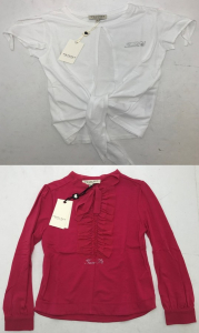One Off Joblot of 6 Twinset Girls Tie Tops in 2 Stunning Styles Mixed Sizes