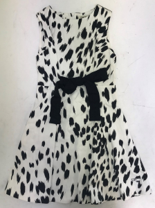 One Off Joblot of 3 Twinset Girls Monochrome Print Waist Bow Dresses Sizes 8-12