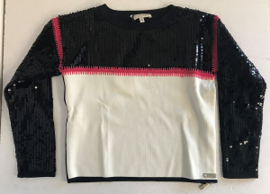 One Off Joblot of 4 Twinset Girls Glamorous Sequin Jumpers Sizes 8-14