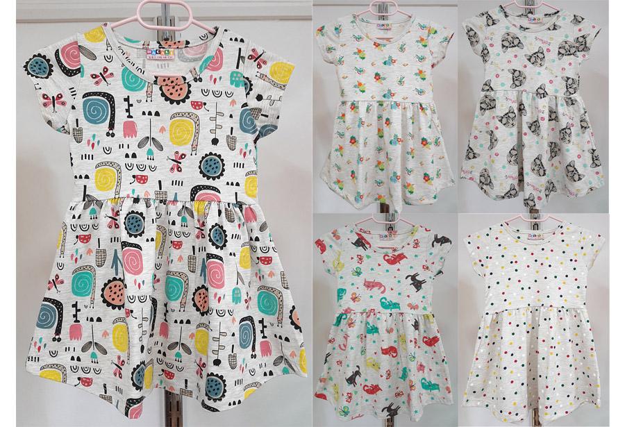 Job Lots of 20 Pcs High Quality Girls Dresses / 5 Designs