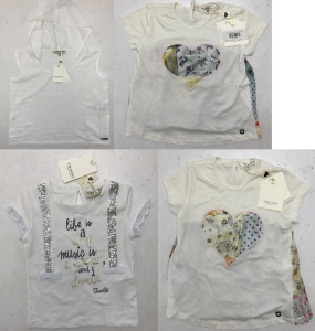 One Off Joblot of 8 Twinset Girls White Tops Mixed Styles Various Sizes