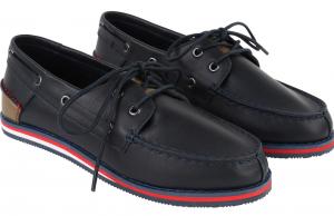 Wholesale Joblot of 4 Hugo Boss Boys Leather Boat Shoe Navy J29116