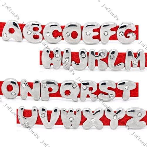 Wholesale Joblot Of 200 Alphabet A-Z Charms For Watch Strap Bracelets
