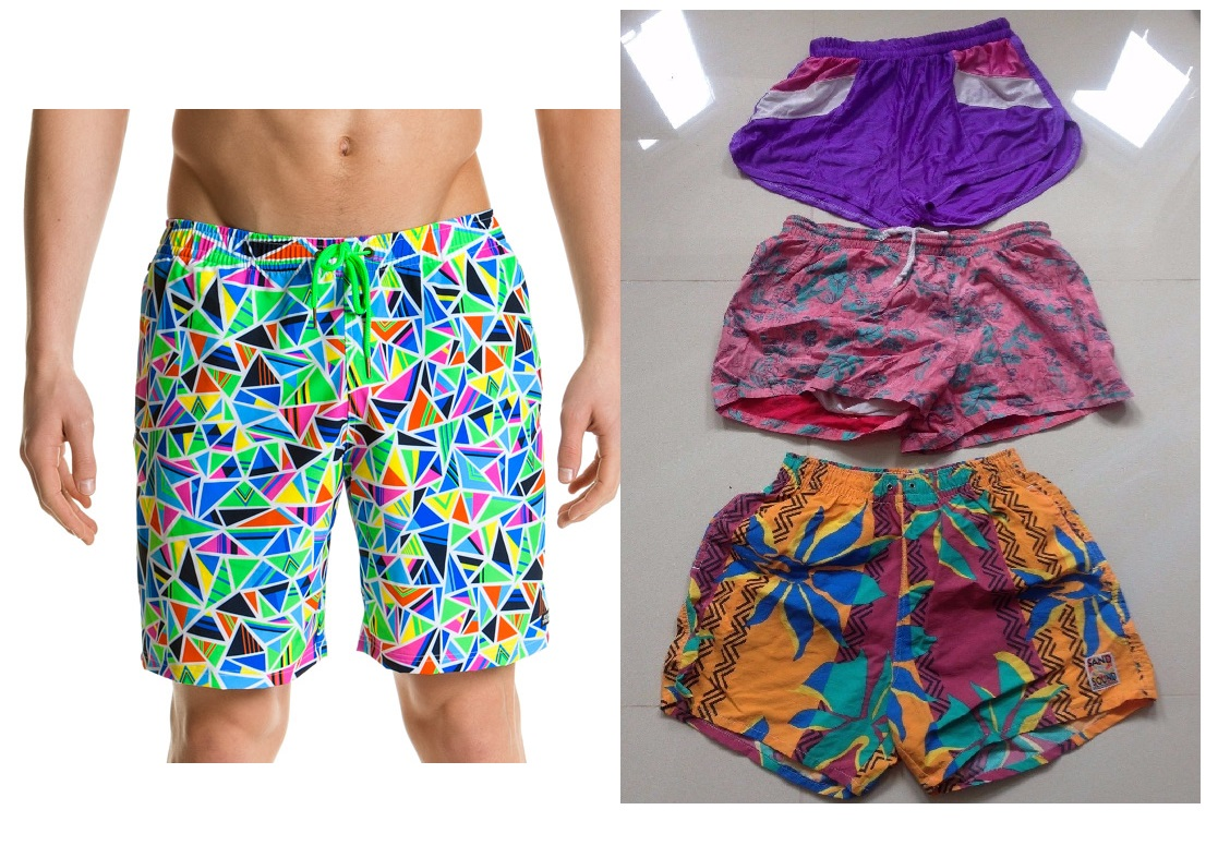 10 pcs x Vintage Funky Crazy Retro Shorts Mens Womens Job lot Wholesale