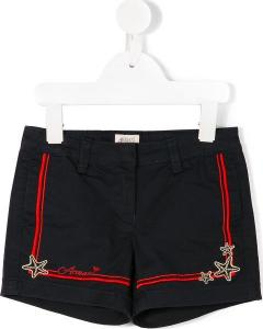 One Off Joblot of 5 Armani Junior Girls Navy Starfish Shorts Sizes 6-12