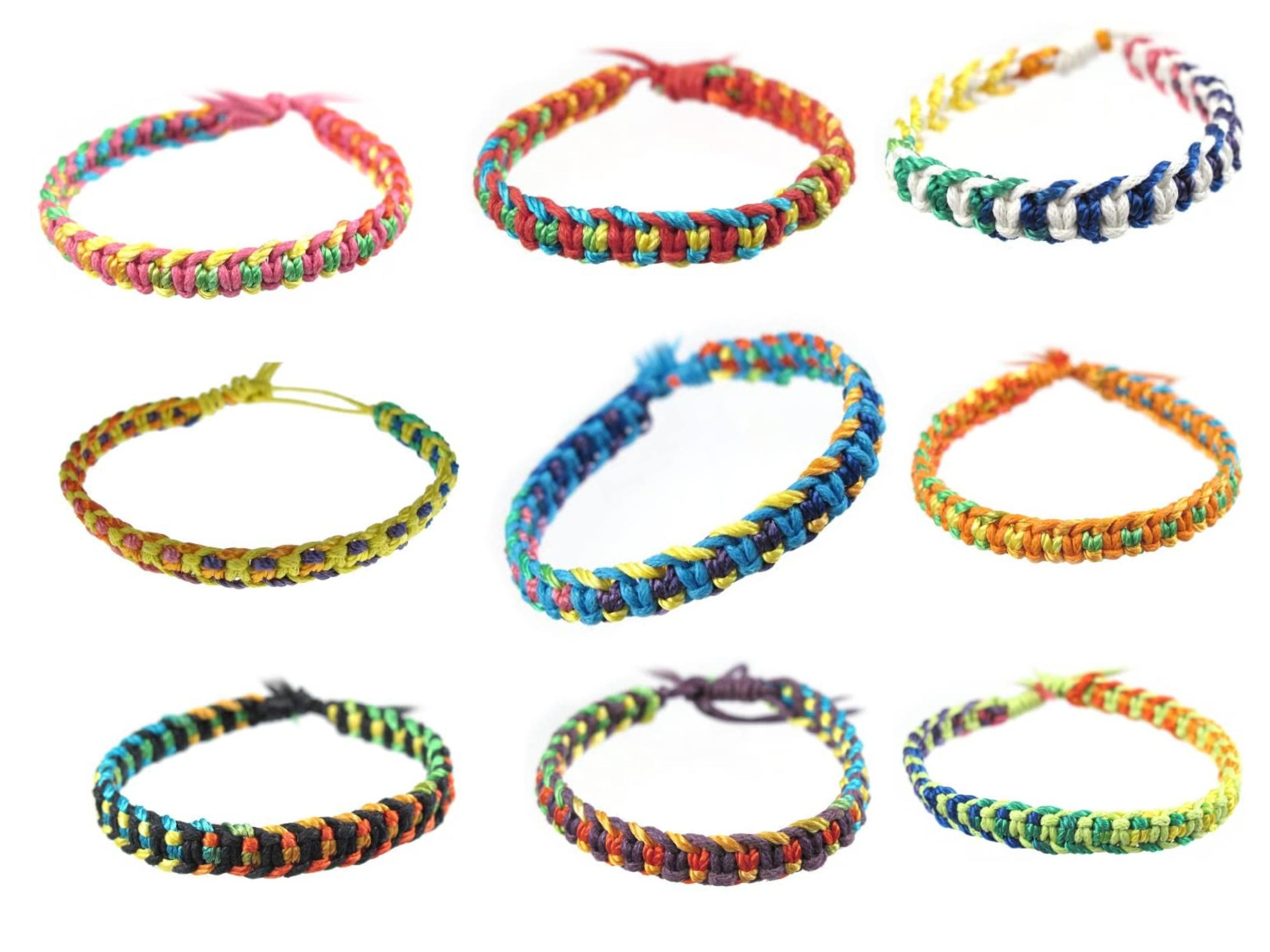 Wholesale Joblot Of 100 Waxed Cotton Friendship Cobra Knot Wrap Bracelets