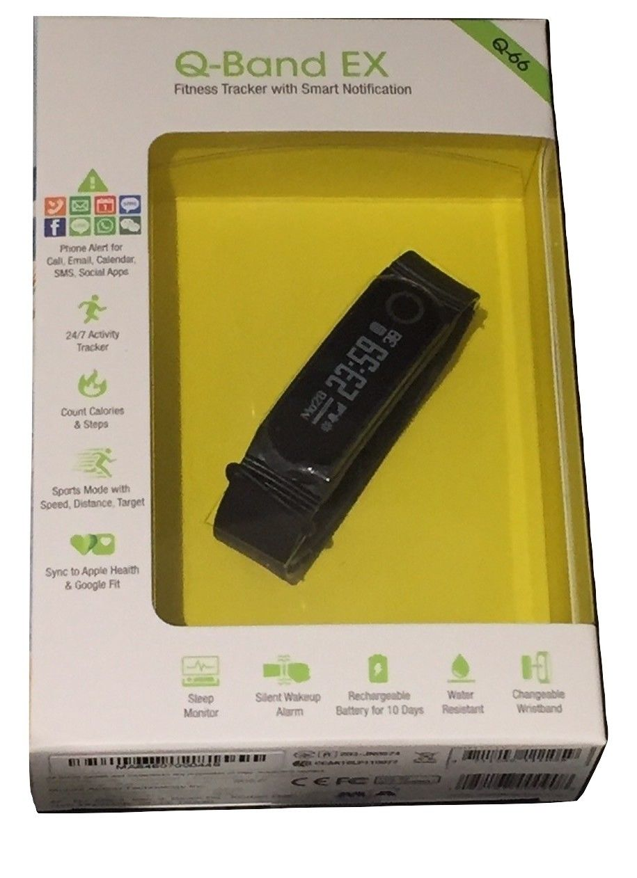10x Q-Band EX Q-66 Activity Trackers/Sleep/Water Resistant/ 10 days battery