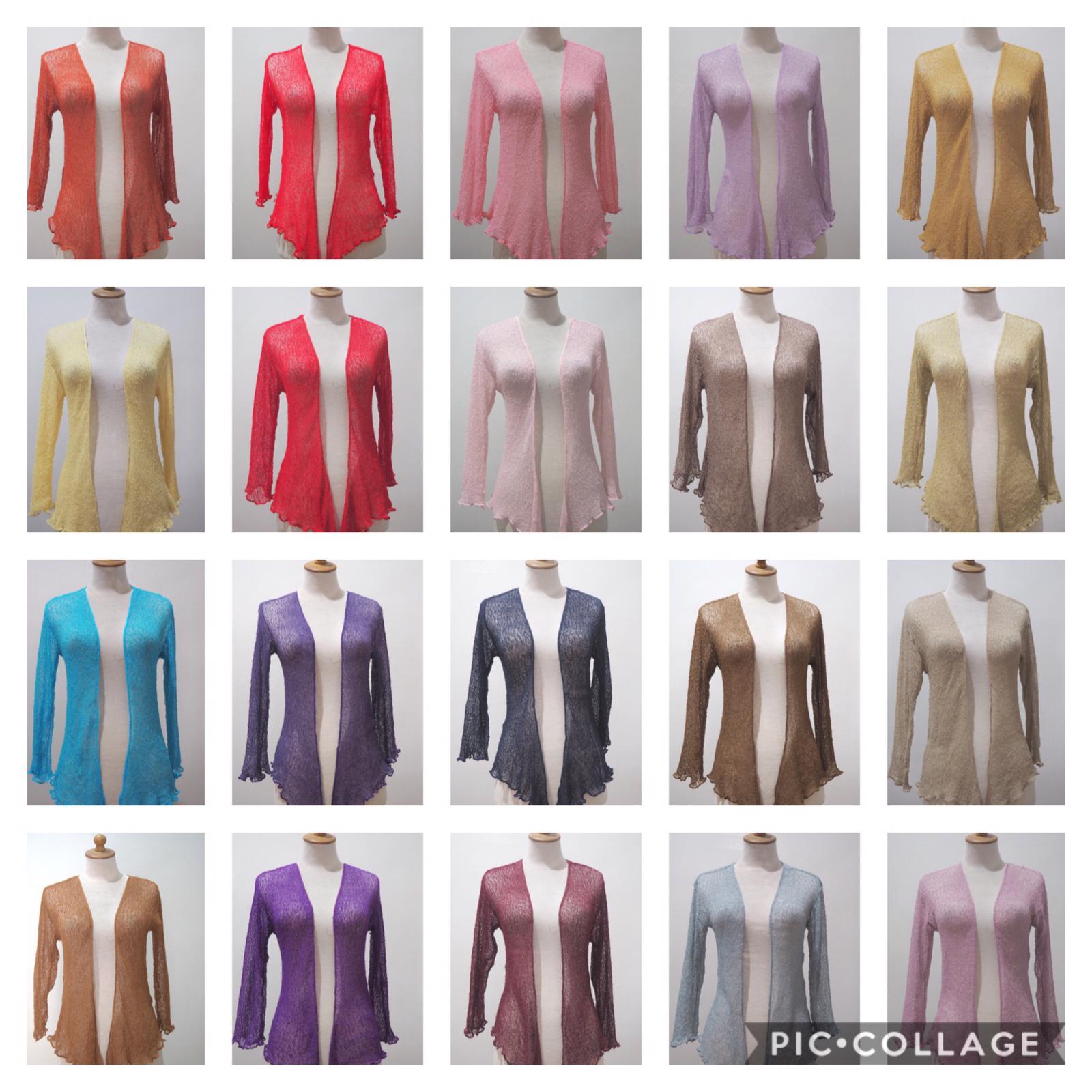 Shrug Women Ladies One Size Stretch Net Over 50 Colors Summer Cardigan 150 Pcs