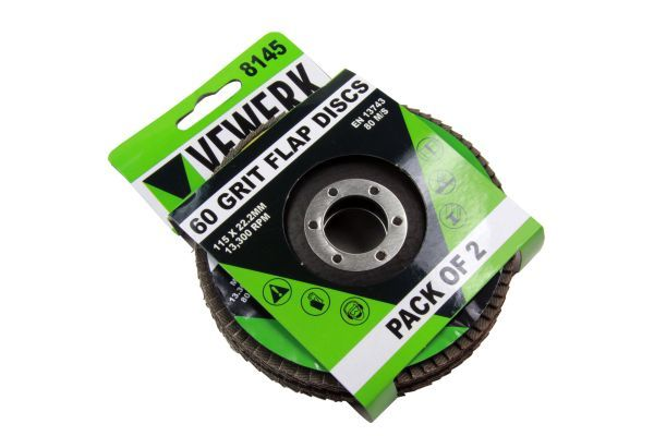 50 Double Packs of Flap Discs 60 Grit 115 x22.2mm