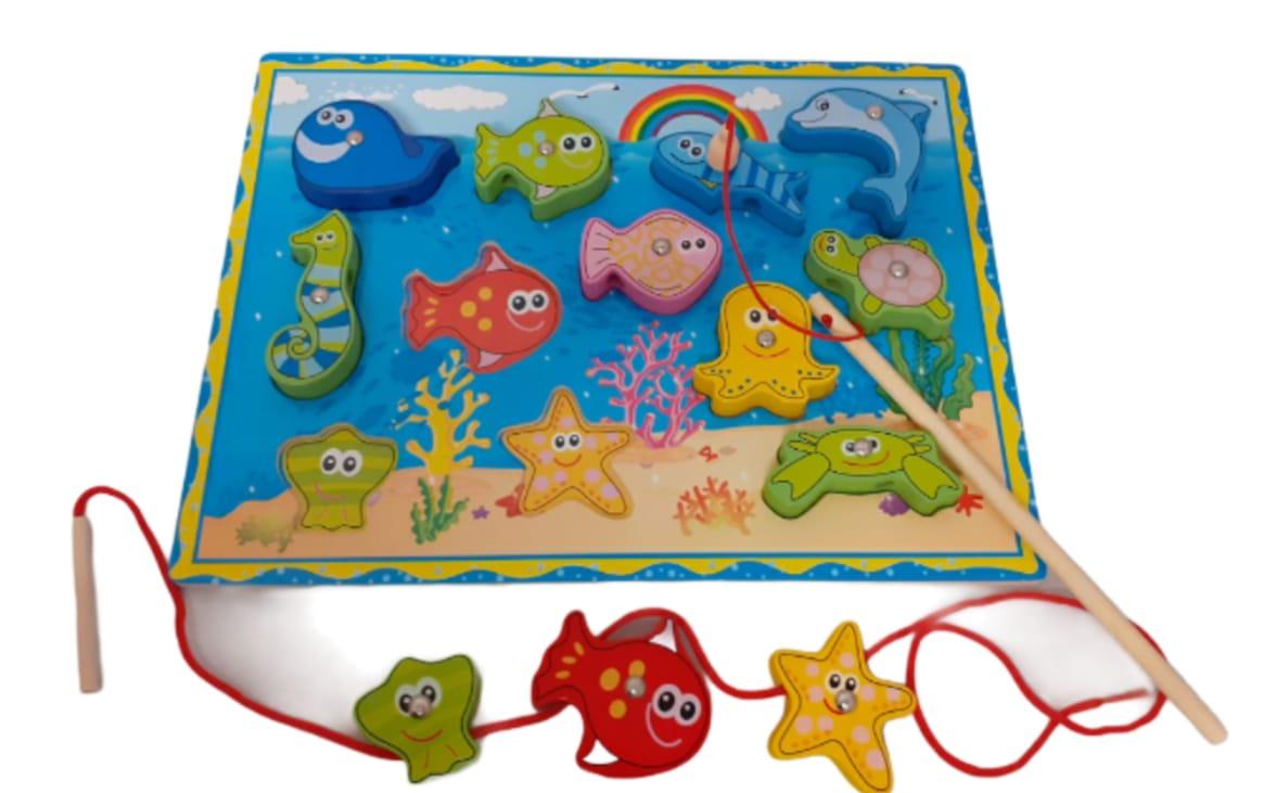 fishing fun magnetic fun toy with two sticks x10