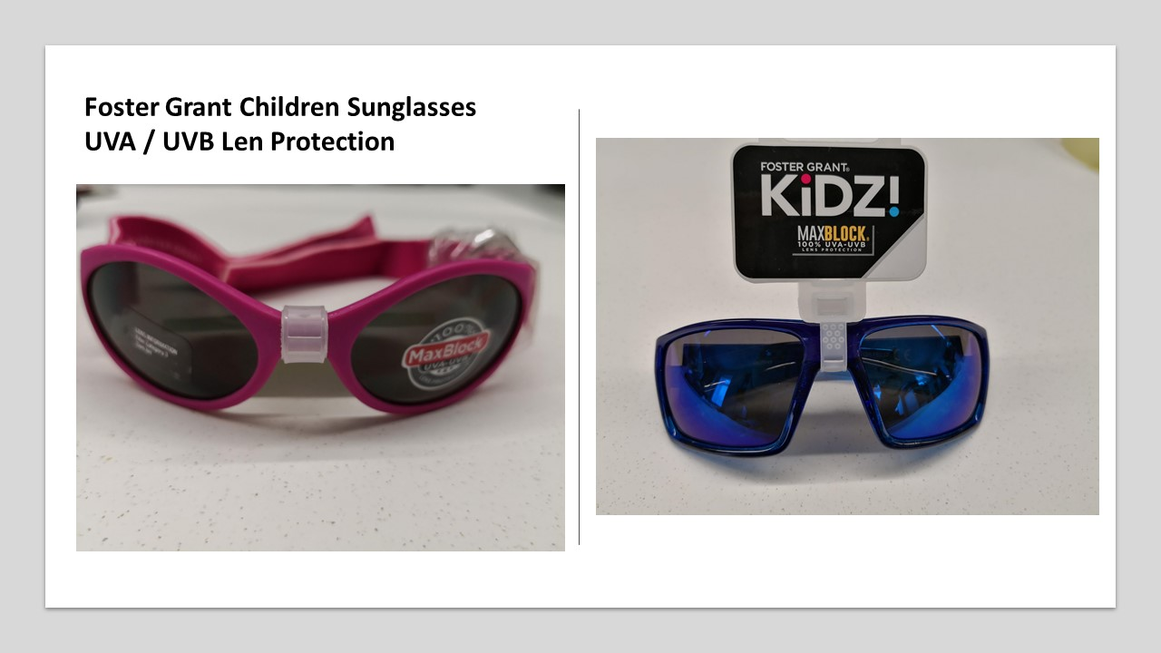 Foster Grant Children Kid Sunglasses children with UVA Protection - 50 in a lot