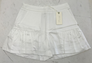 One Off Joblot of 6 Miss Grant Girls White Summer Shorts with Pleat 3 Sizes