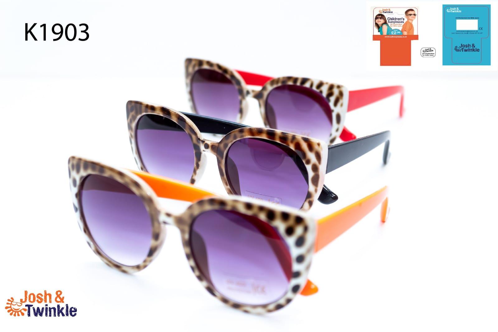 Joblot of Girls leopard print sunglasses 24 glasses in each joblot 3 different colors!