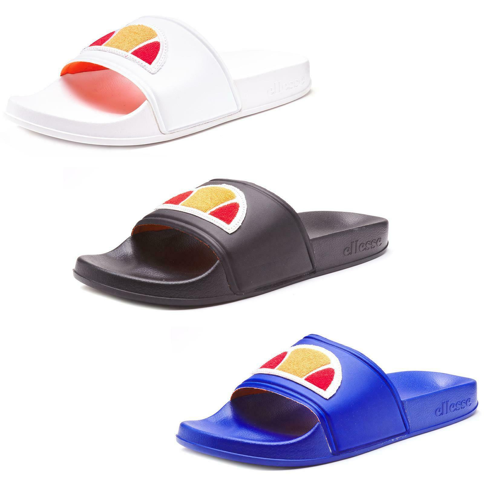 Men Ellesse Filippo BDG Beach Pool Slides Summer Sandals in Black, White, Blue x 5 pairs