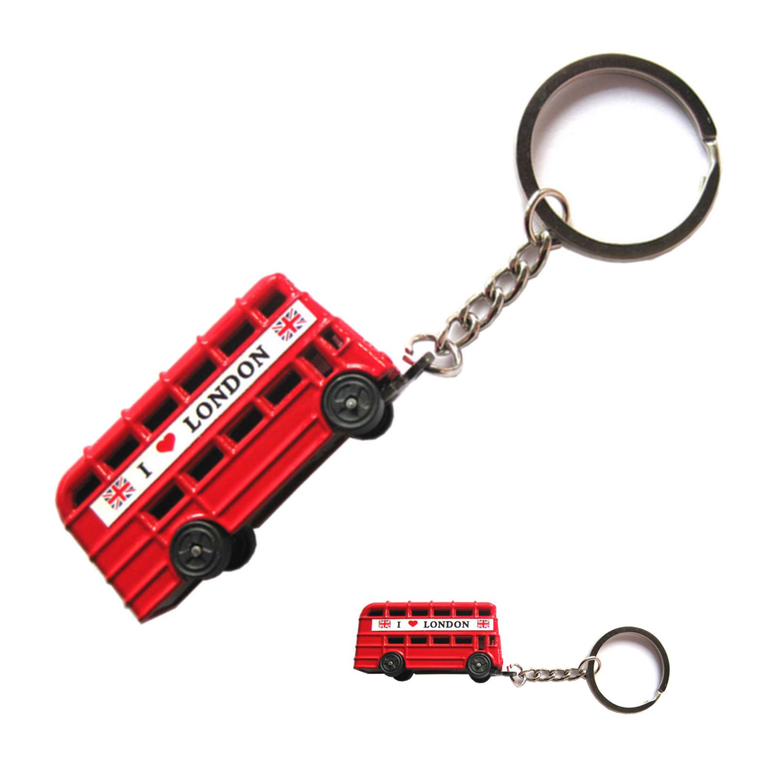 London red bus keyrings British London souvenirs key chains Union jack England key holders
