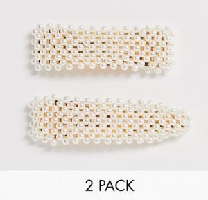 Wholesale Joblot of 30 DesignB London Faux Pearl Hair Clip Set 2 Pack