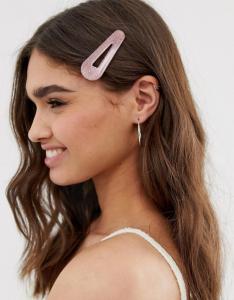 Wholesale Joblot of 30 DesignB London Large Pink Glitter Resin Hair Clip
