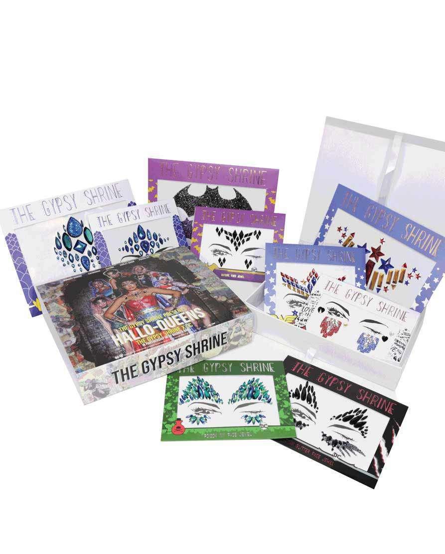 THE GYPSY SHRINE Warner Bros Hero Face & Body Jewels/Sticker Mega Pack (480 Units) HALLOWEEN