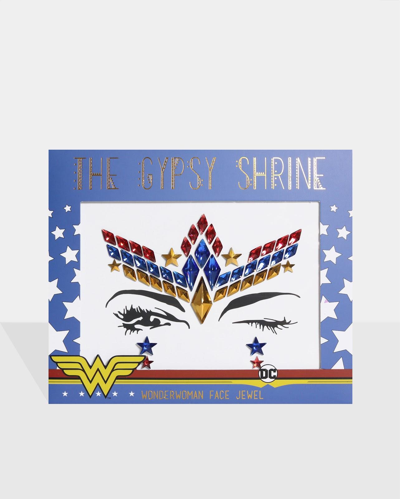 THE GYPSY SHRINE Warner Bros Wonder Woman Face & Body Jewels Bundle (50 Units)